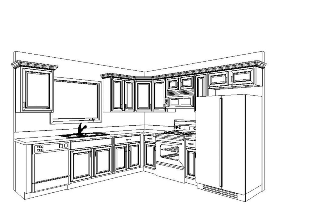 Kitchen Drawing 1