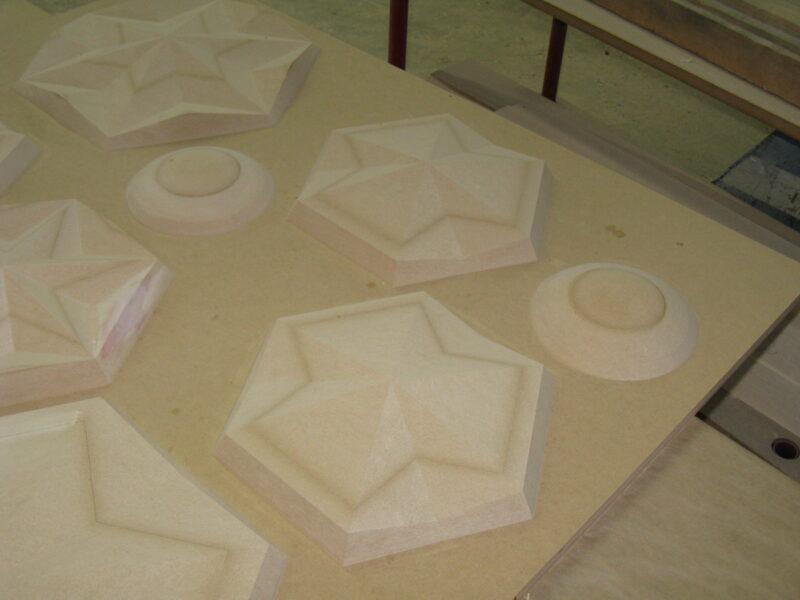 Large MDF Shapes for Plastic Moulding