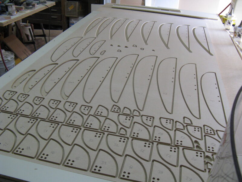 MDF Sailboat Parts to Study Different Shapes