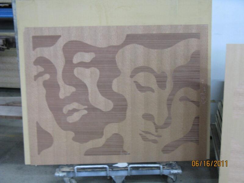 Very Large Contrasting Veneer Inlay Artwork