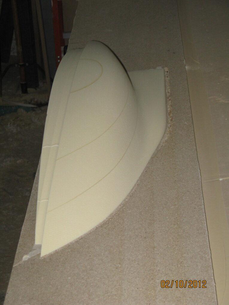 Near Completion RenFoam Sailboat