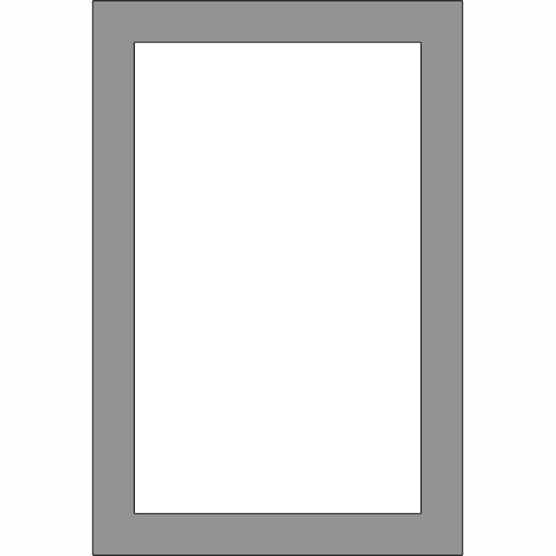 G101 1-Lite Glass Door Front View