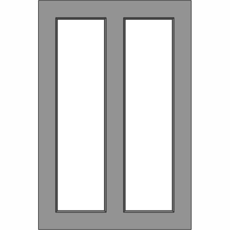 G102 2 Lite Vertical Split Face View