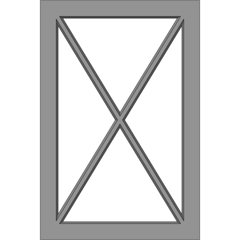 Glass Door 111 Full X Face View