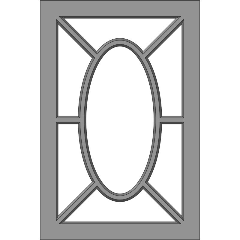 Glass Door 114 Sunrise Face View
