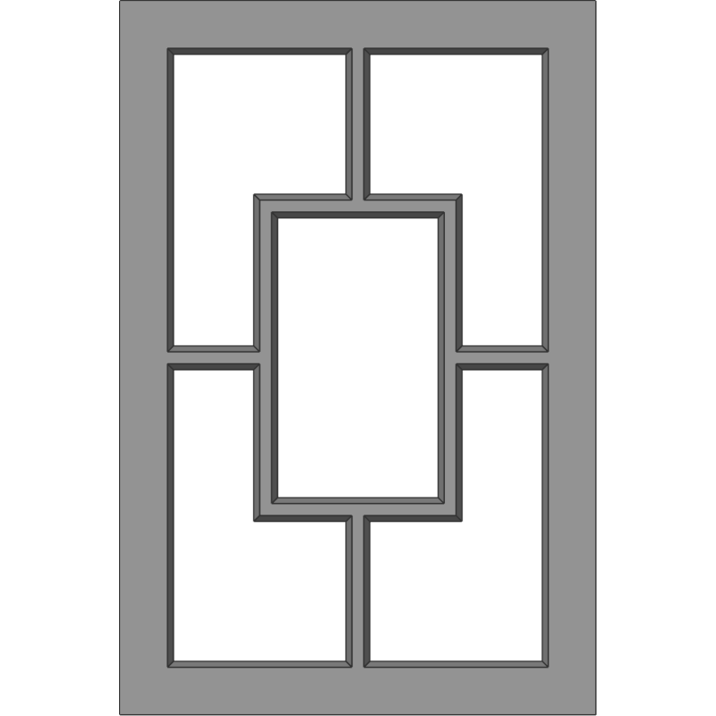 Glass Door 122 Floating Square Face View